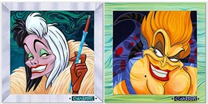 "Trevor Carlton Signed and Numbered Suite of 2 Giclée on Canvas Editions:""Villains Suite"""