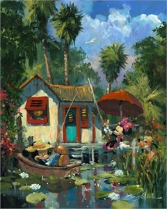 """James Coleman Signed and Numbered Hand Embellished Limited Edition Giclee on Canvas:""""Florida Fishin' """""""