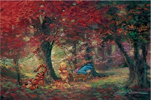 """James Coleman Signed and Numbered Hand Embellished Limited Edition Giclee on Canvas:""""Adventure in the Woods"""""""