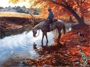 "Tim Cox Hand Signed and Numbered Limited Edition: ""An Autumn Afternoon"""