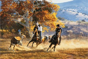 "Tim Cox Hand Signed and Numbered Limited Edition Canvas: ""Heading for the Heels"""