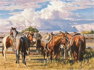 "Tim Cox Hand Signed and Numbered Limited Edition AP Canvas: ""Their Turn To Rest"""