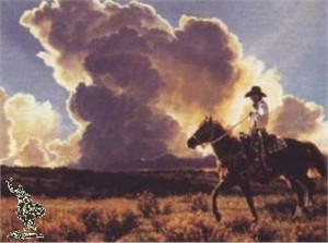 """Tim Cox Hand Signed and Numbered Limited Edition Canvas: """"Thunder"""""""