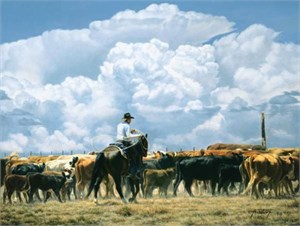 """Tim Cox Hand Signed and Numbered Limited Edition AP Canvas: """"Thunderhead"""""""