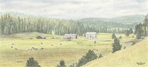 "Jon Crane Handsigned & Numbered Limited Edition Giclee on Paper:""Summer Meadows"""