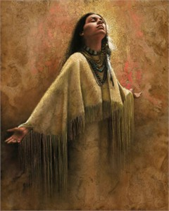 "Lee Bogle Hand Signed and Numbered Limited Edition Canvas Giclee:""Into the Light"""