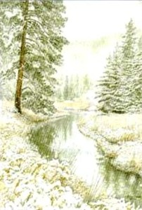 "Jon Crane Hand Signed and Numbered Limited Edition Giclee Print on Paper: ""Down Castle Creek"""