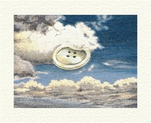"Fanny Brennan Limited Edition Hand-Crafted Lithograph: "" Sky Button """