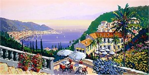 "Kerry Hallam Limited Edition Hand-Pulled Serigraph: "" Crescent Bay """