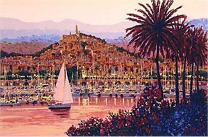 "Kerry Hallam Limited Edition Hand-Pulled Serigraph: "" Riviera Twilight """