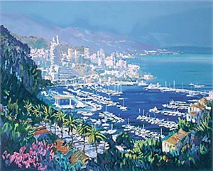 "Kerry Hallam Limited Edition Hand-Pulled Serigraph on Paper: "" Monte Carlo """