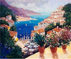 "Kerry Hallam Handsigned & Numbered Limited Edition Serigraph:""Sur la Port """