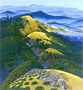 "Bruce Ricker Handsigned & Numbered Limited Edition Serigraph:"" Carmel Canyon"""