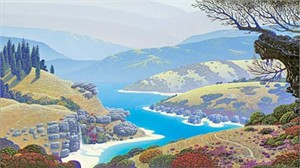 "Bruce Ricker Limited Edition Serigraph on Board:""View from Cypress Hill"""