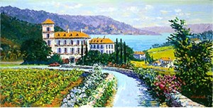 """Kerry Hallam Handsigned & Numbered Limited Edition Serigraph:""""Auberge Du Soleil """""""
