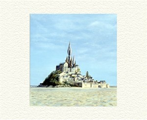 "Fanny Brennan Limited Edition Hand-Crafted Lithograph: "" Mont St. Michel """