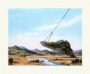 "Fanny Brennan Limited Edition Hand-Crafted Lithograph: "" Mountain Lift """
