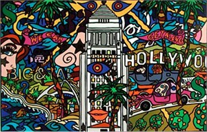 """Alex Echo Limited Edition Serigraph on Paper: """" L.A. """""""