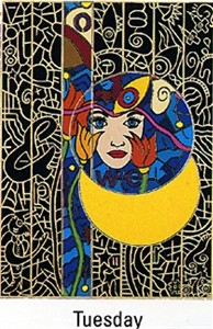 "Alex Echo Limited Edition Serigraph on Paper: "" Seven Moons Suite: Tuesday """