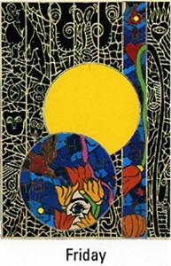 "Alex Echo Limited Edition Serigraph on Paper: "" Seven Moons Suite: Friday """