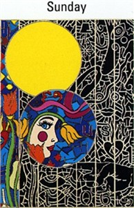 "Alex Echo Limited Edition Serigraph on Paper: "" Seven Moons Suite: Sunday """