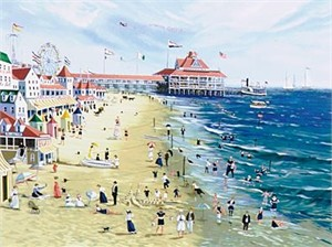 "Sally Caldwell Fisher Limited Edition Serigraph on Paper: "" Brighton Pier """