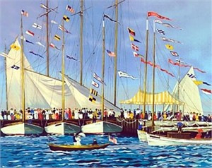 "Sally Caldwell Fisher Limited Edition Serigraph on Paper: "" Regatta Day """