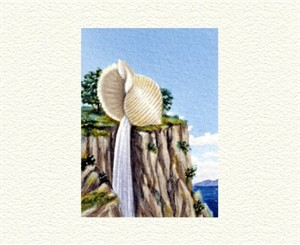 "Fanny Brennan Limited Edition Hand-Crafted Lithograph: "" Cliff Hanger """