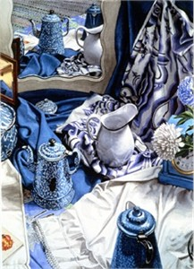 """Nancy Hagin Limited Edition Serigraph on Paper: """" Blue Agate """""""