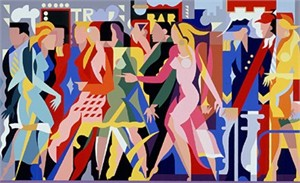 "Giancarlo Impiglia Limited Edition Serigraph on Paper: "" The Crowd """