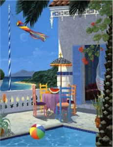 "John Kiraly Limited Edition Serigraph on Paper: "" Lazy Afternoon """
