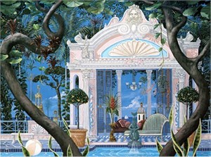 """John Kiraly Limited Edition Serigraph on Paper: """" Temple of the Swim """""""