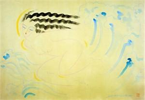 "Muramasa Kudo Limited Edition Serigraph on Paper: "" Surf """