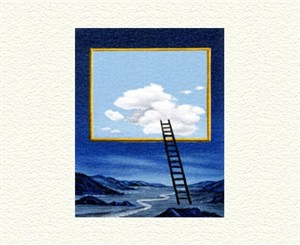 """Fanny Brennan Limited Edition Hand-Crafted Lithograph: """" Ladder """""""