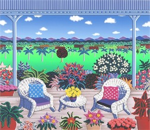 "Joanne Netting Limited Edition Serigraph on Paper: "" Verandah """