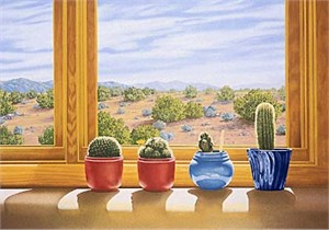 "Lorna Patrick Limited Edition Serigraph on Paper: "" Cactus """