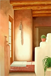 "Lorna Patrick Limited Edition Serigraph on Paper: "" Kiva Wall """