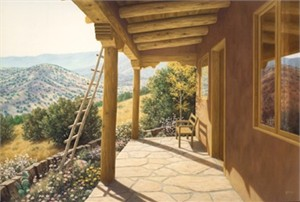 """Lorna Patrick Limited Edition Serigraph on Paper:""""Portal with a View """""""