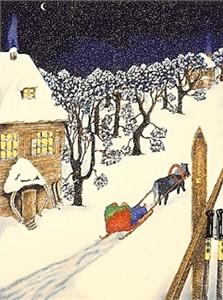 "Linnea Pergola Limited Edition Serigraph on Paper: "" A Winter's Night"""