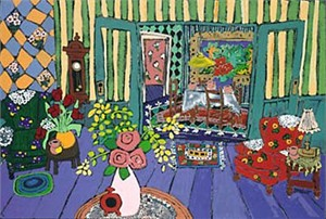 """Laurie Zeszut Limited Edition Serigraph on Paper: """" Living Room Series I """""""
