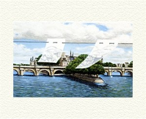 """Fanny Brennan Limited Edition Hand-Crafted Lithograph: """" Pont Neuf """""""