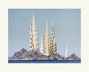 "Fanny Brennan Limited Edition Hand-Crafted Lithograph: "" Shell City """
