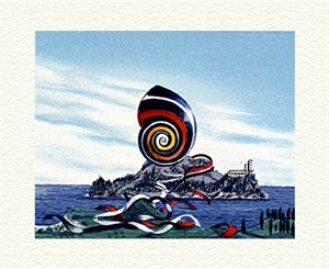 "Fanny Brennan Limited Edition Hand-Crafted Lithograph: "" Ribbon Snail """