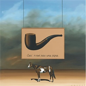 "Robert Deyber Artist Signed Limited Edition Hand-crafted Stone Lithograph:""Paint Horse - Magritte """