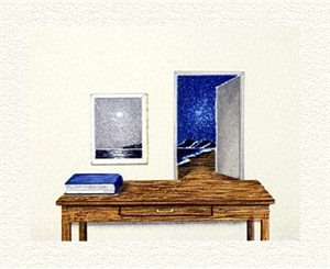 "Fanny Brennan Limited Edition Hand-Crafted Lithograph: "" Night Table """