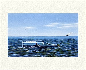 "Fanny Brennan Limited Edition Hand-Crafted Lithograph: "" Tugboat Afloat """