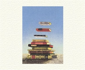"""Fanny Brennan Limited Edition Hand-Crafted Lithograph: """" Floating Books """""""