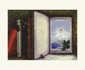"Fanny Brennan Limited Edition Hand-Crafted Lithograph: "" Open Book """