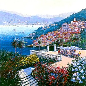 """Kerry Hallam Handsigned & Numbered Limited Edition Serigraph:""""Coastal View """""""