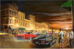 "Kevin Daniel Hand Signed and Numbered Limited Edition Giclee: ""Sizzlin' Summer Nights"""